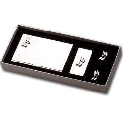 Quaver Music Note Cufflinks Gift Set