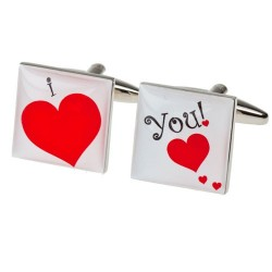 I love you Cufflinks - Valentines Cufflinks