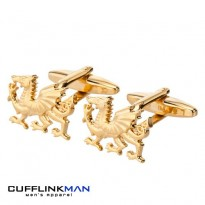 Welsh Dragon Cufflinks Gold