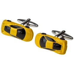 Yellow Sports Car Cufflinks |Supercar Cufflinks