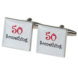 50th Birthday 50 Something Cufflinks