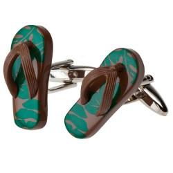 Flip-Flop Sandal Camouflage Cufflinks