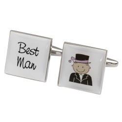 Smile Pink Design - Best Man Cufflinks