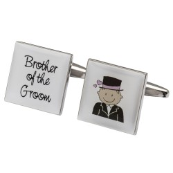 Smilie Pink Design -Brother of the Groom Cufflinks