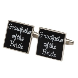 Square Black  - Grandfather of the Bride Cufflinks
