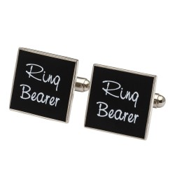 Square Black  - Ring Bearer Cufflinks