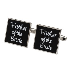 Square Black - Brides Father Cufflinks