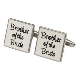 Square White - Brother of the Bride Cufflinks