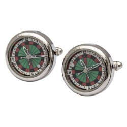 Watch Roulette Wheel cufflinks (Working Watch)