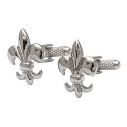Fleur-De-Lis Rhodium Cufflinks