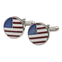 USA Flag - Metallic Round Edition
