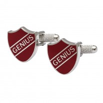 Genius School Badge Cufflinks