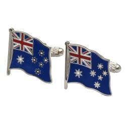 Flag of Australia Cufflinks - Wavy Edition