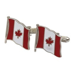Flag of Canada Cufflinks - Wavy Edition