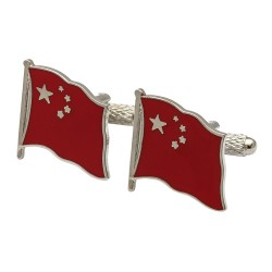 Flag of China Cufflinks - Wavy Edition