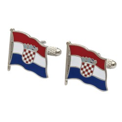 Flag of Croatia Cufflinks - Wavy Edition