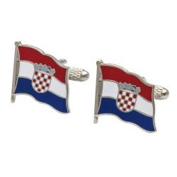 Flag of Croatia Cufflinks - Wavy Edition