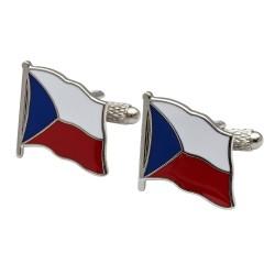 Flag of Czech Republic Cufflinks - Wavy Edition