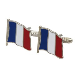 Flag of France Cufflinks - Wavy Edition