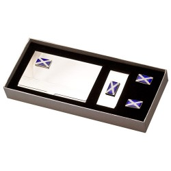 Flag of Scotland Cufflinks Gift Set