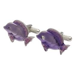 Purple Fish Cufflinks