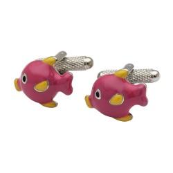 Pink Fun Fish Cufflinks