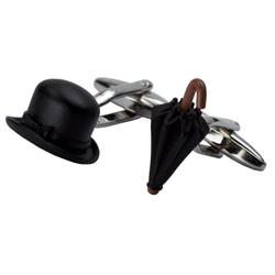 Bowler Hat and Umbrella Cufflinks