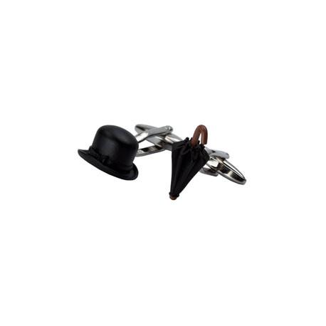 24dae356ccb Bowler Hat and Umbrella Cufflinks