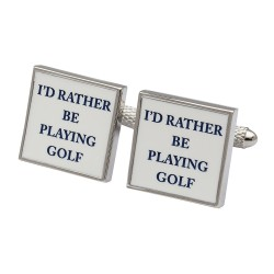 I'd Rather Be Playing Golf Cufflinks