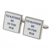 l'd Rather Be In The Pub Cufflinks