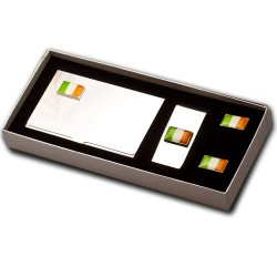 Irish Flag Cufflinks Gift Set