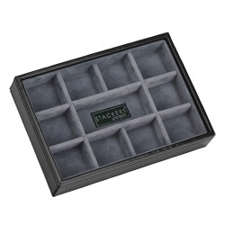 Stackers - Black and Grey Cufflinks Case