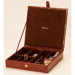 Large Brown Gents Cufflinks Organiser Raffles Collection