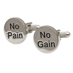 No Pain No Gain Cufflinks