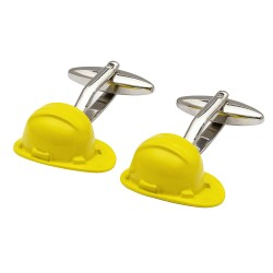Yellow Hard Hat Cufflinks