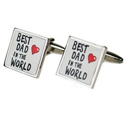 Best Dad in the World Cufflinks