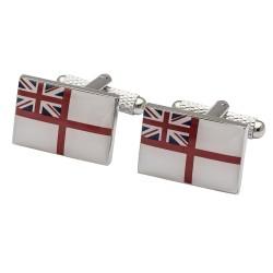 Royal Navy White Ensign Flag Cufflinks