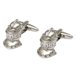 Knights Helmet Cufflinks