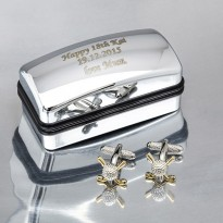 Personalised Golf Cufflinks Gift Set