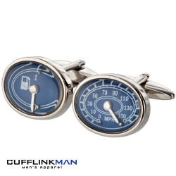 Speedo and Fuel Gauge Cufflinks - Motoring Cufflinks