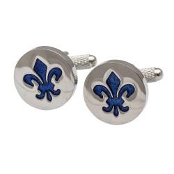 Fleur-De-Lis Blue Cufflinks