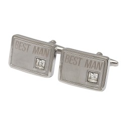 Best Man Crystal Cufflinks