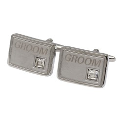 Groom Crystal Cufflinks