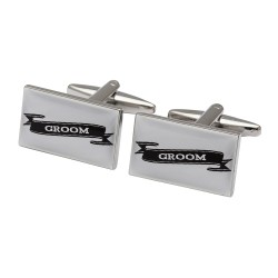 Groom Scroll Cufflinks