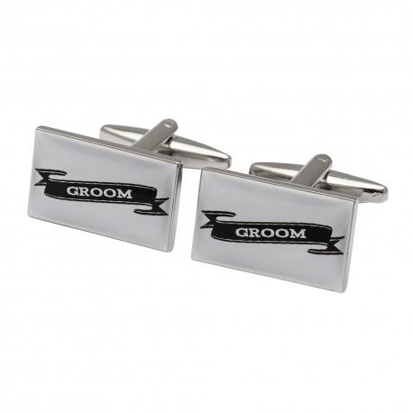 Groom Scroll Cufflinks
