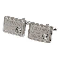 Father of the Bride Crystal Cufflinks
