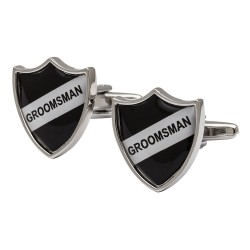 Groomsman Shield Cufflinks