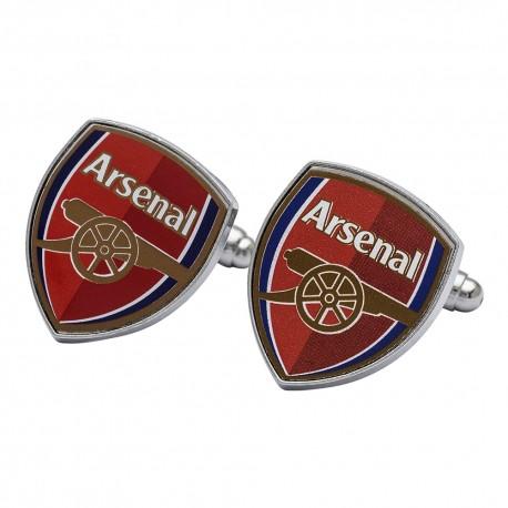 Arsenal FC Official Soccer Crest Metal Cufflinks