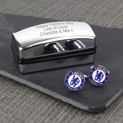 Personalised Chelsea FC Cufflinks Gift Set
