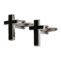 Black Cross Cufflinks